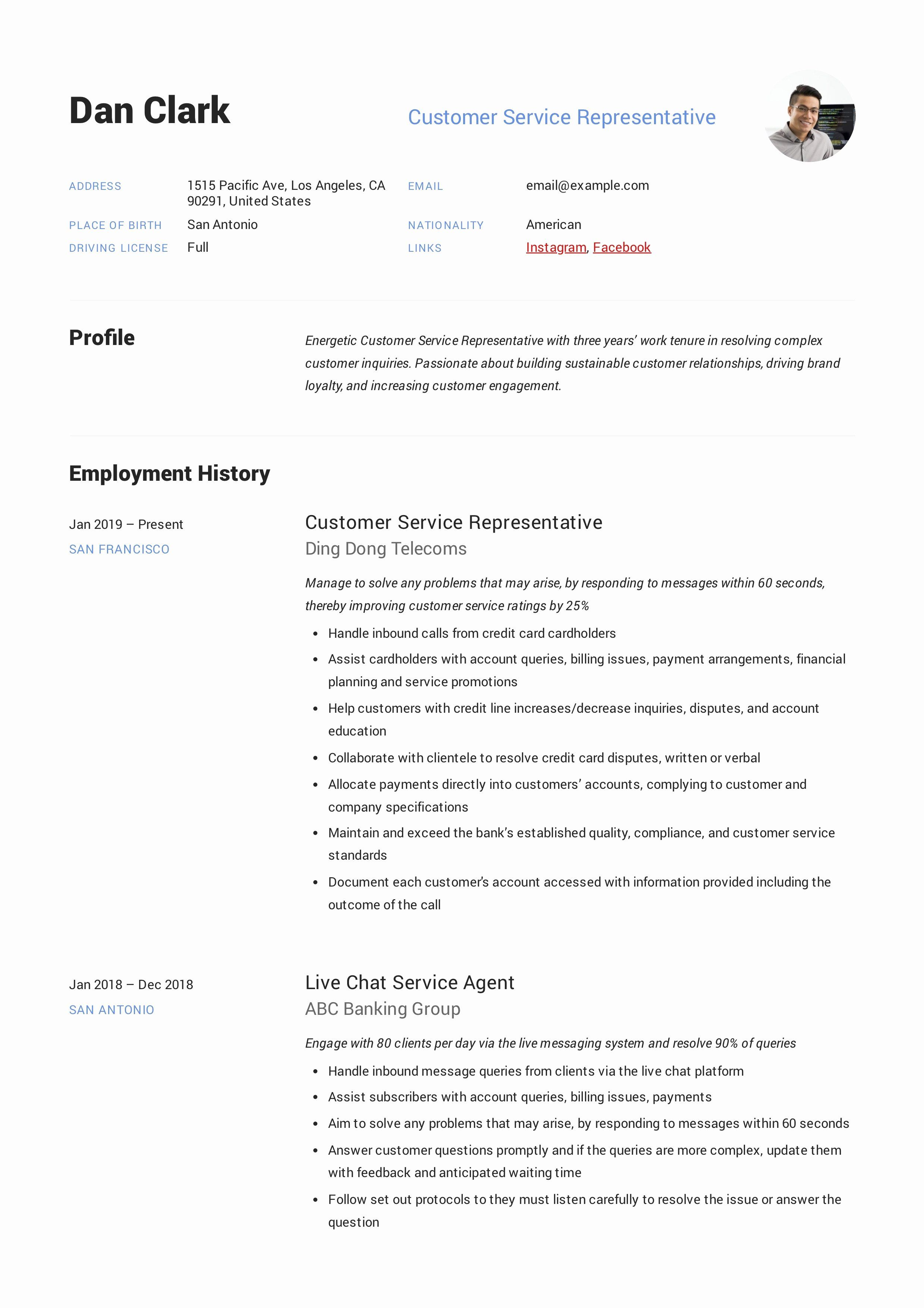 Guest Service Representative Resume Luxury How to Customer