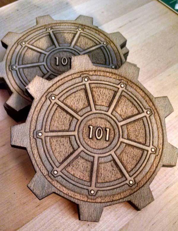 Fallout Vault Door fallout 3 vault door inspired drink coasters | handmade gadgets