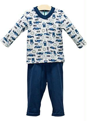 d5cb935755 Pijama Infantil Menino Kyly Branco - Posthaus