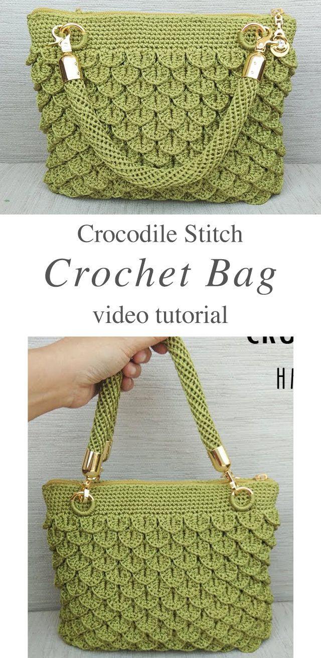 Crochet Crocodile Stitch Bag You Can Easily Make | CrochetBeja