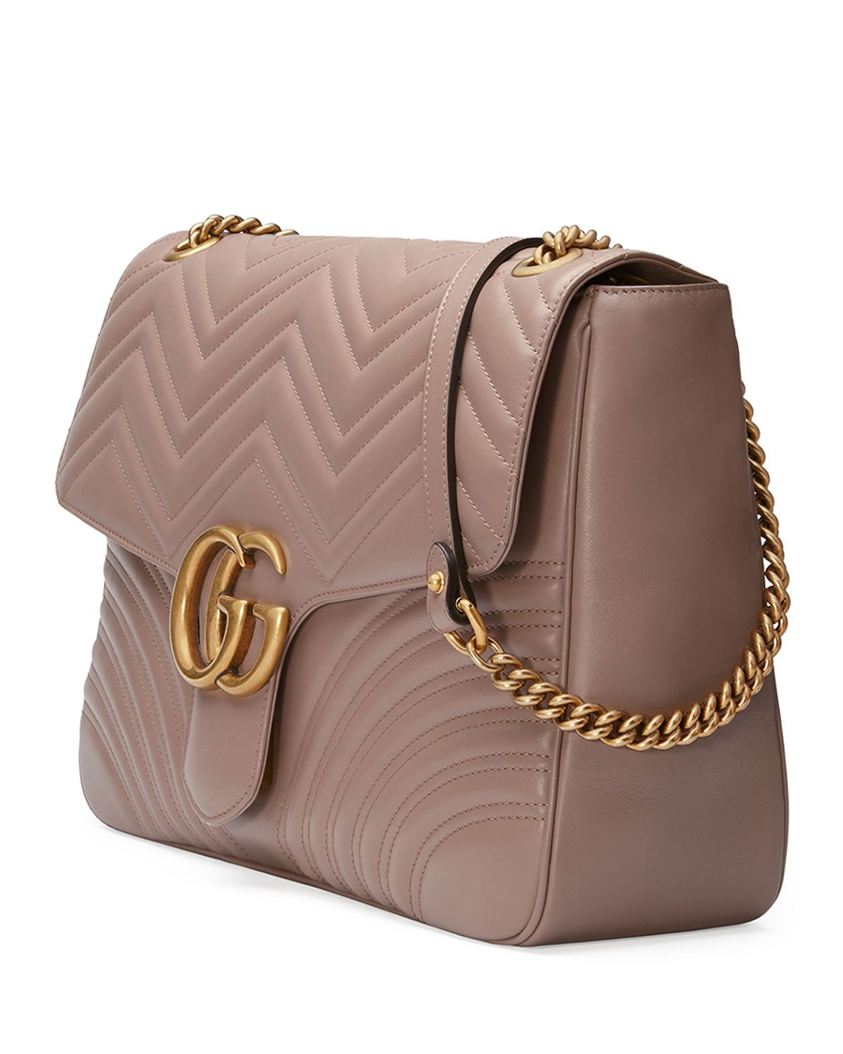 cb677e3f4fcd Gucci GG Marmont Large Chevron Quilted Leather Shoulder Bag ...