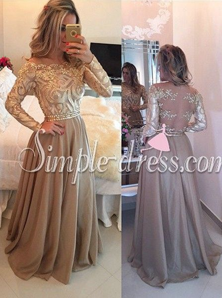 Gold Dresses with Sleeves