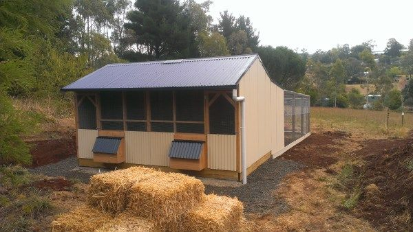 Divided Chook House With Solar Powered Door Opener And