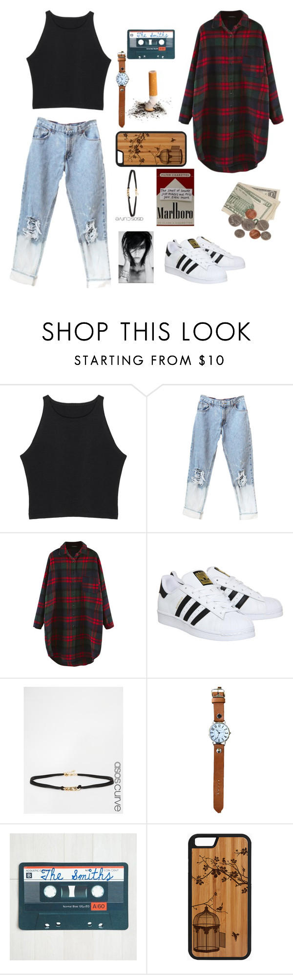"""""""Forgetting is the hardest part"""" by anexushill ❤ liked on Polyvore featuring adidas and ASOS Curve"""