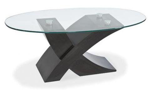 Retro Design Couchtisch Arizona Glas, Wenge | Moderner Couchtisch ...