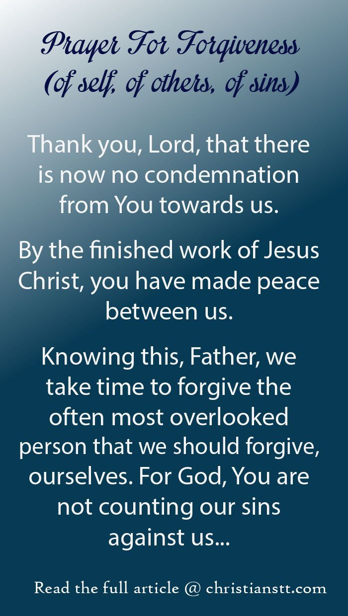 Prayer: The Joy of Forgiveness (of self, of others, of sins