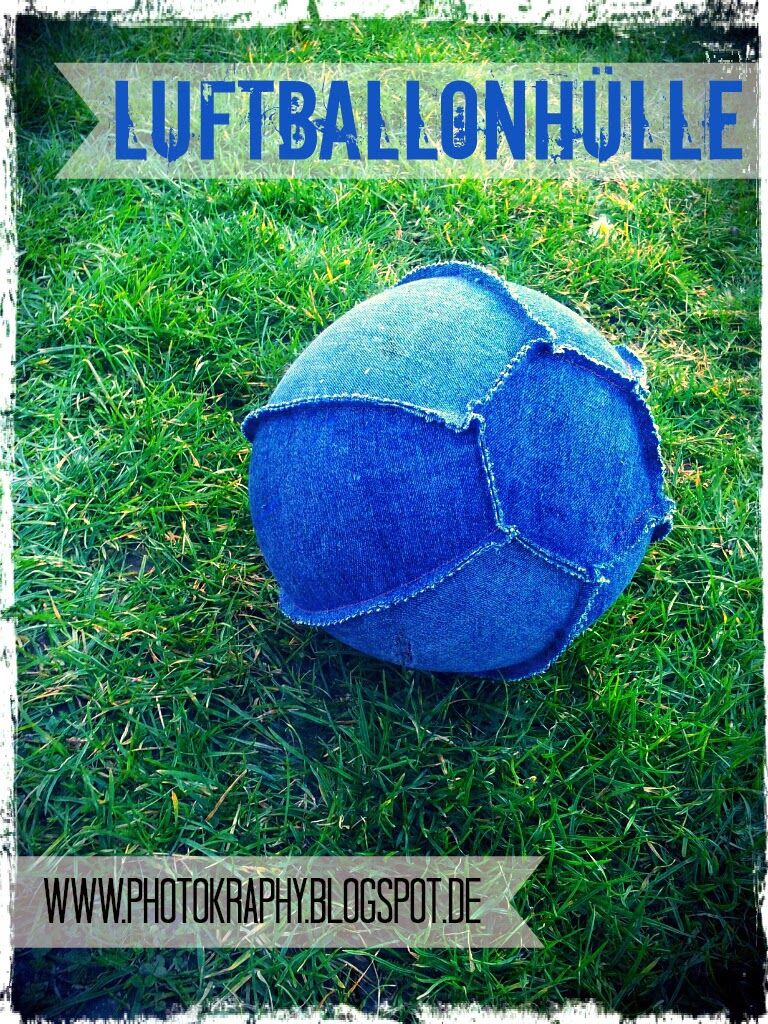 Luftballonhülle aus alter Jeans / Balloon cover made from old jeans / Upcycling