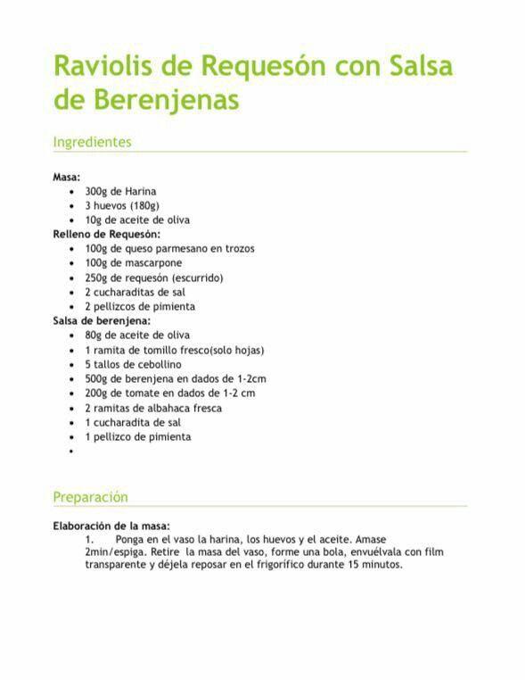Raviolis de requesón con salsa de berenjenas 1