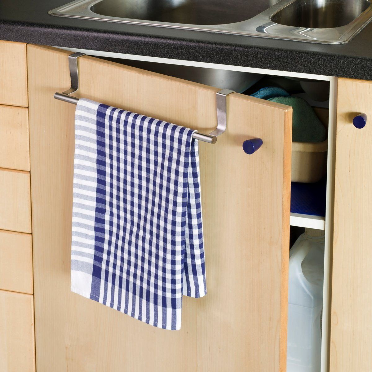 Porta-panos de cozinha, aço inoxidável, especial porta ou gaveta La Redoute Interieurs | La Redoute