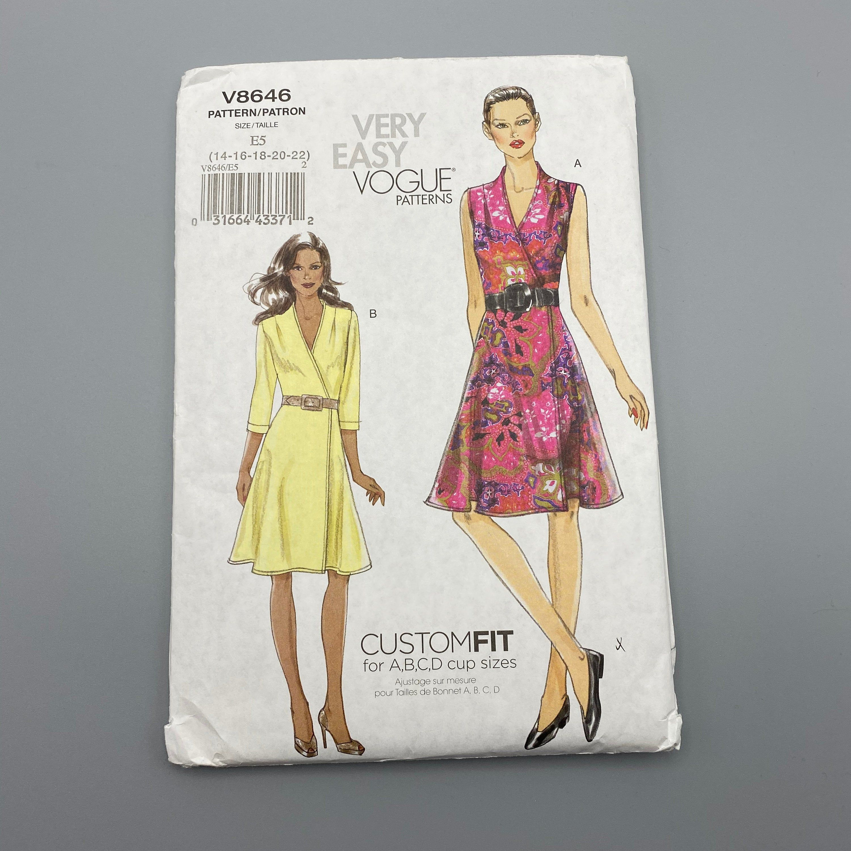 Vogue 8646 Sizes 14 16 18 20 22 Wrap Dress Sewing Pattern Etsy In 2021 Vogue Sewing Patterns Wrap Dress Sewing Patterns Dress Sewing Pattern [ 3000 x 3000 Pixel ]