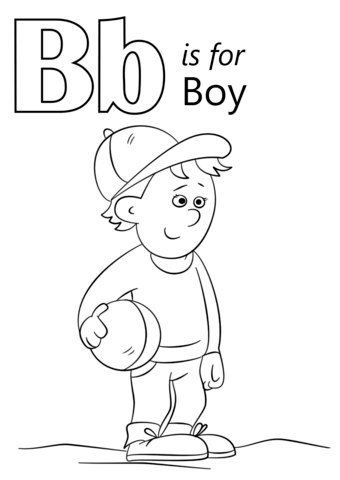 Letter B Is For Boy Coloring Page From Letter B Category Select From 27643 Printable Crafts Of Cartoo Preschool Coloring Pages Abc Coloring Pages Abc Coloring