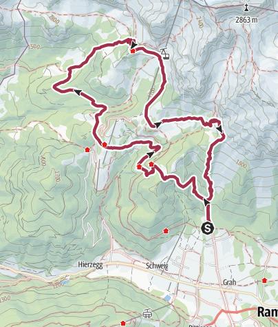 Dachstein Karte.Karte 5 Hüttenweg Und Jungfrauensteig Wandern In Ramsau Am
