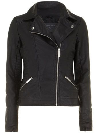 Tall black panelled biker - View All New In   - What's New