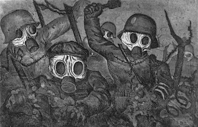 Otto Dix, Stormtroopers during a Gas Attack, 1924