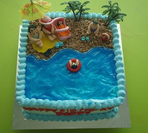 Beach Cakes Designs For Kids Family Beach Theme Birthday Cake