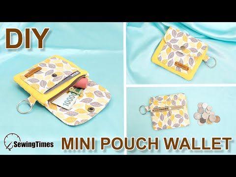 DIY MINI PURSE WALLET | Wallet with 4 pockets inside | Cute Zipper Pouch Bag Tutorial [sewingtimes]