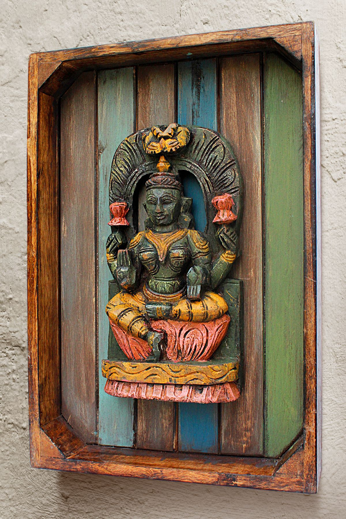 Bavas Wood Works Pooja Room Door Frame And Door Designs: Each Wooden And Metal Pieces Is Handpicked From Different