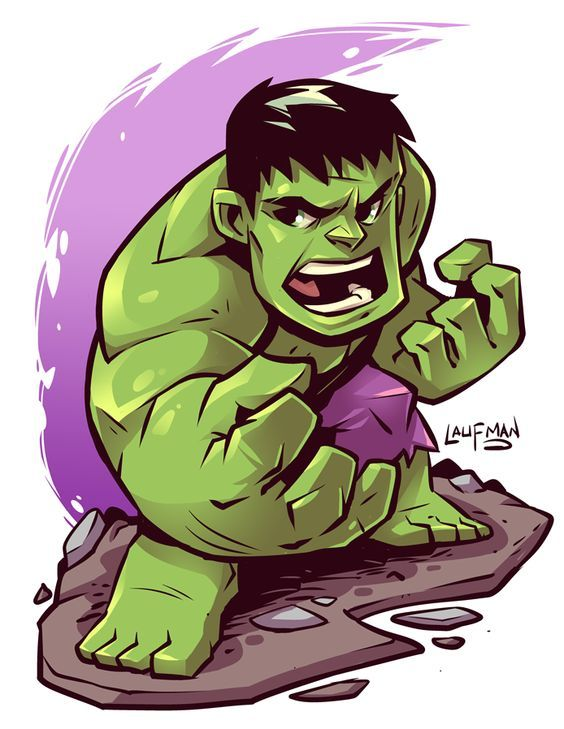 #Hulk #Fan #Art. (Chibi Hulk) By: Derek Laufman. ÅWESOMENESS!!!™ ÅÅÅ  - Visit to grab an amazing super hero shirt now on