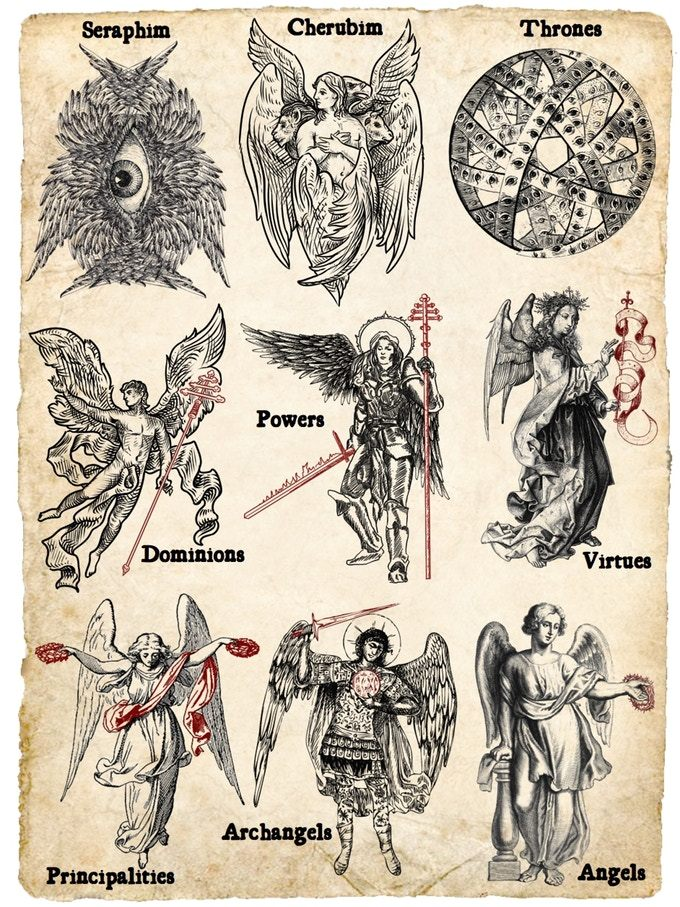 9 Choirs of Angels. - dorrance30   Satanic art, Esoteric art, Mystical art