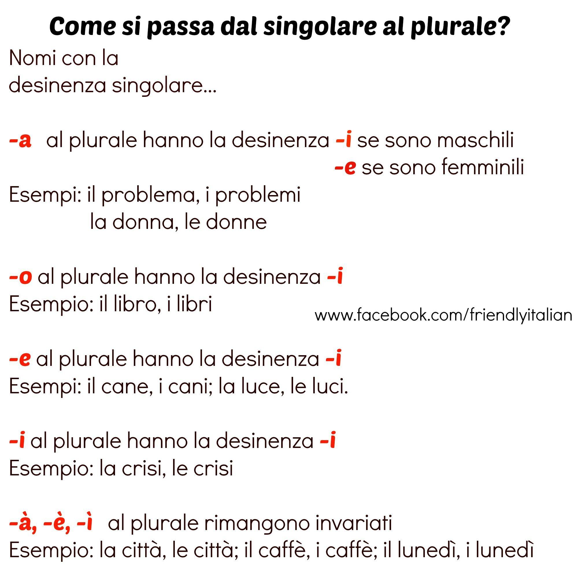 plurale di homework