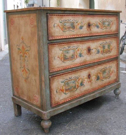 Painted Chests Furniture   Foter