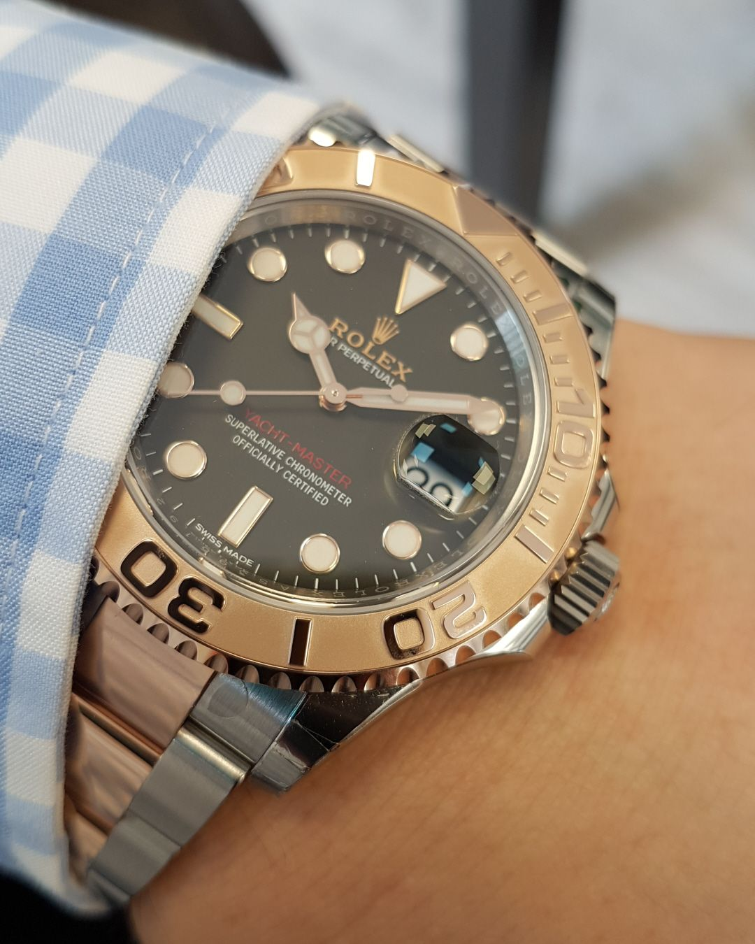 Rolex Yacht,Master 40 Steel \u0026 Everose Gold Black Dial 116621