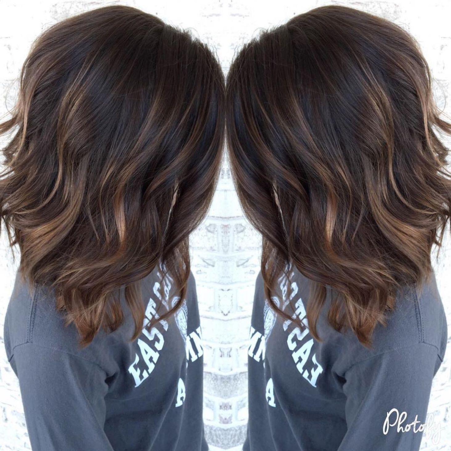 hairstyles featuring dark brown hair with highlights hair