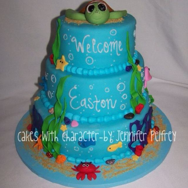 Under The Sea Baby Shower Theme Cakes With Character Chattanooga