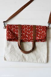 Fold Over Tote Bag Pattern AllFreeSew allfreesew