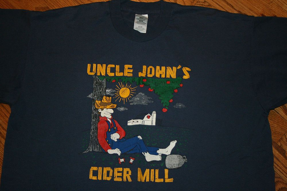Vintage Uncle John's Cider Mill T-Shirt Men's 2XL hillbilly farmer apple farm #FruitoftheLoom #GraphicTee