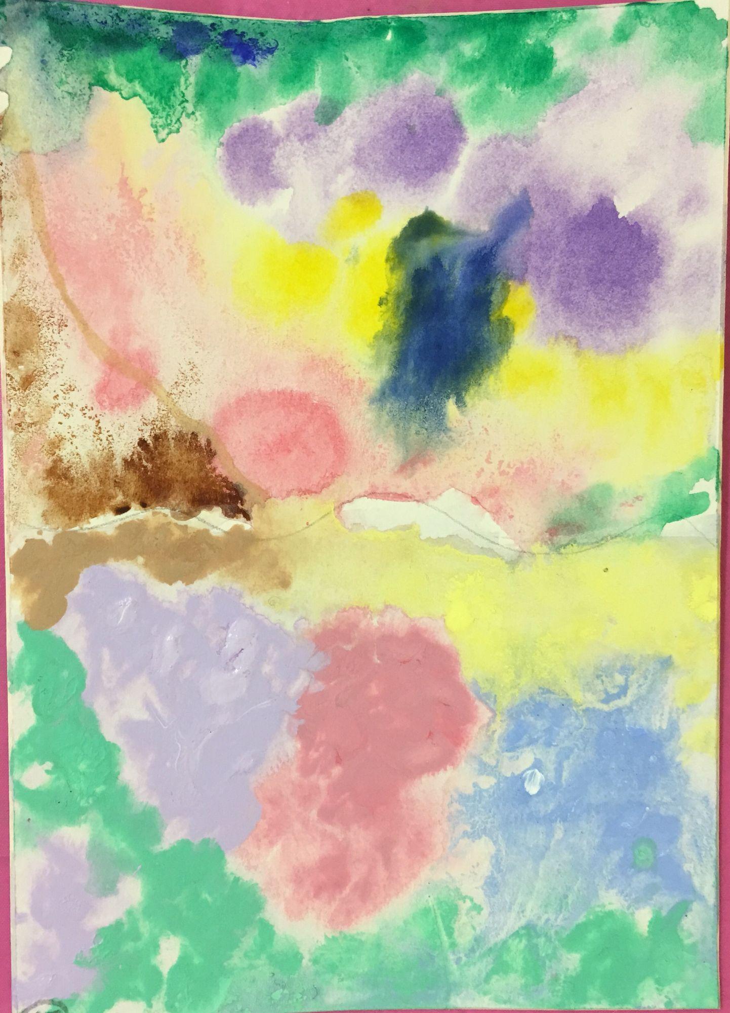 Watercolour Tints Abstract Artwork Art Watercolor