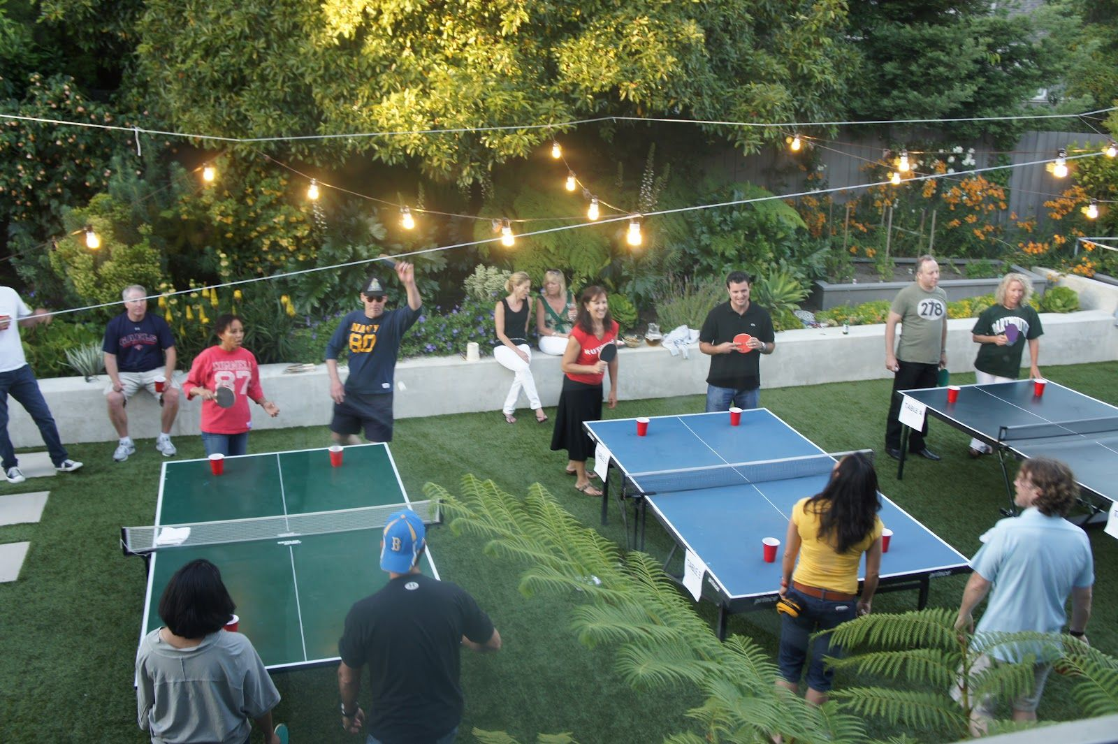 Beer Pong Party in our backyard   Outdoor graduation ...