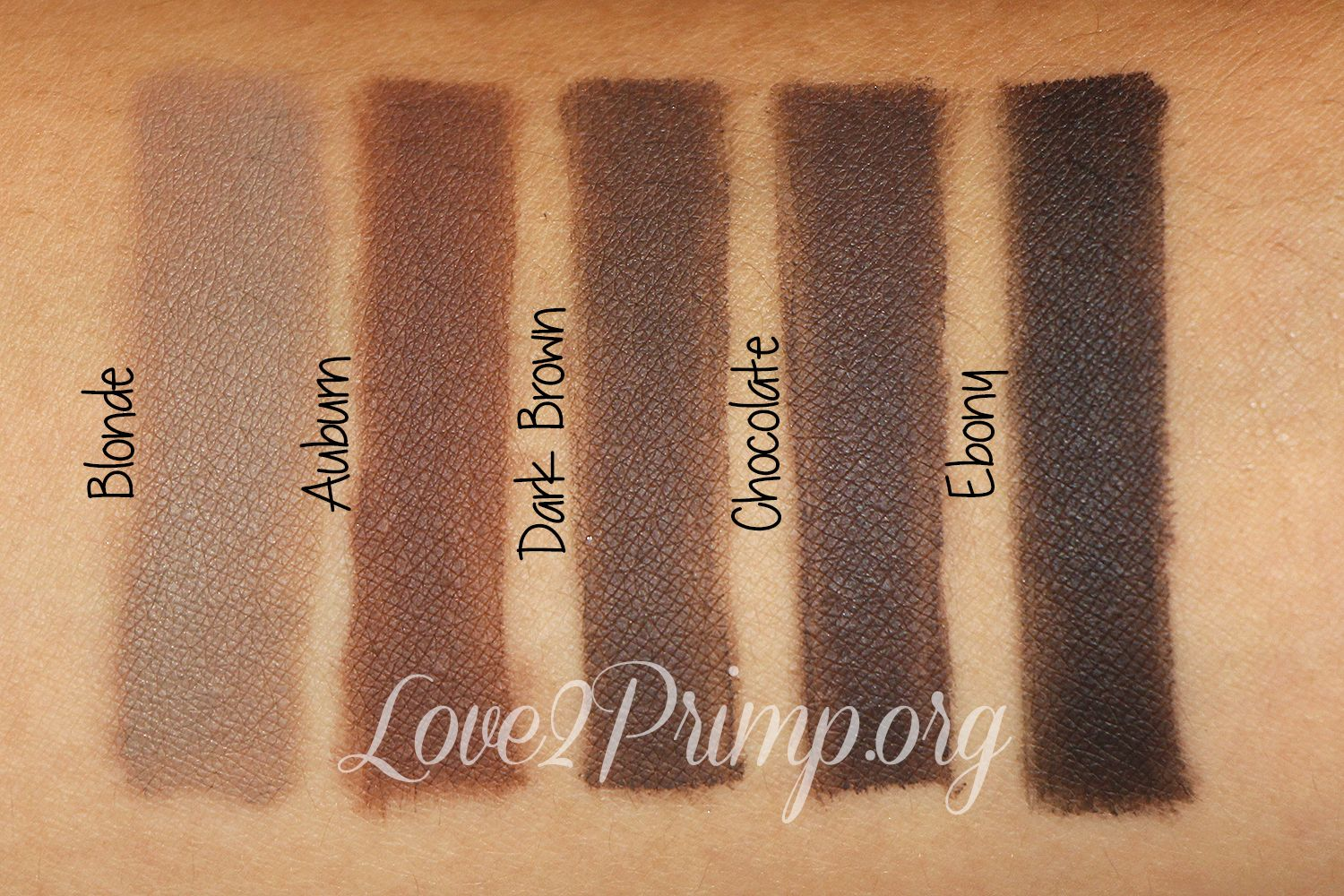 Anastasia Brow Dip Brow Swatches Ebony Dark Brown