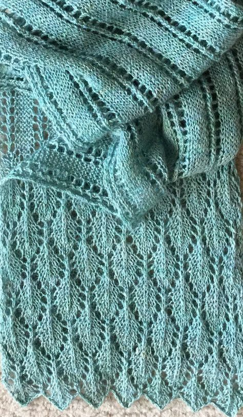 Free Knitting Pattern For Summer Stream Scarf This Versatile Lace