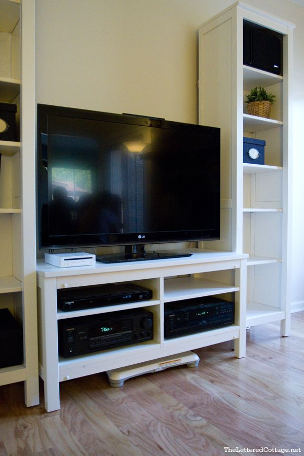 Hemnes Tv Stand Redo True Value Diy Blog Squad Ikea Hack Living Room Ikea Built In Hemnes Tv Stand