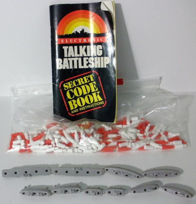1989 Electronic Talking Battleship Instruction Book With Pegs And 10