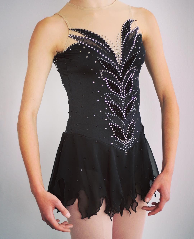 Black Swan Figure Skating Dress designed by The Well Dressed Skater