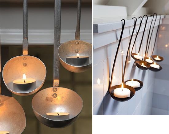 Porta candele fai da te mestoli candele pinterest for Ikea portacandele