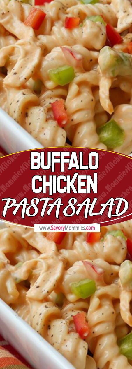 Chicken Club Pasta Salad – Feel It Share It #buffalochickenpastasalad