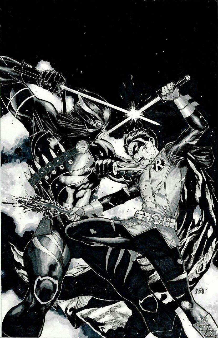 art-of-ace-continuado:  Robin vs Talon