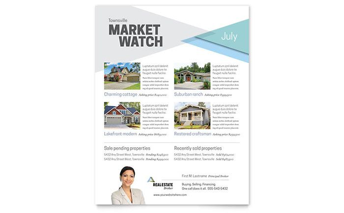 Realtor Flyer Template Design By Stocklayouts Tpc Flyers