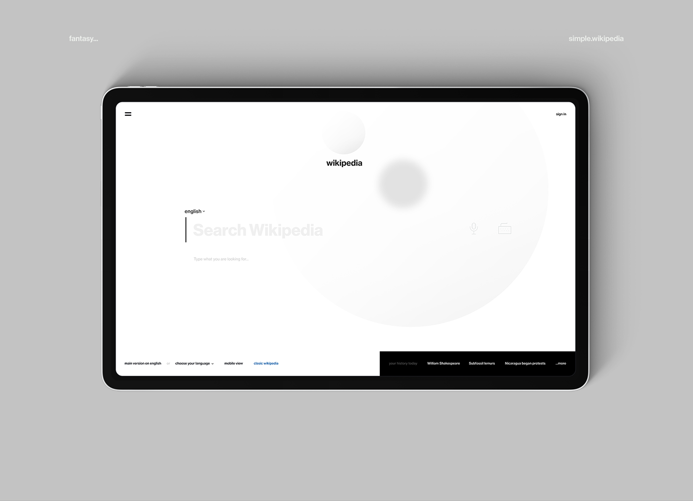 Minimalist Mobile And Desktop Web Design Concept For Wikipedia Web Design Quotes Online Web Design Minimalist Web Design