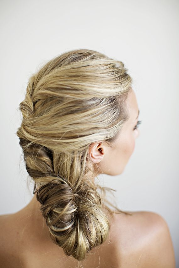 Unique braided bridal hairstyle ideas | Hair and makeup by Janet Miranda | Photos by Betsi Ewing |