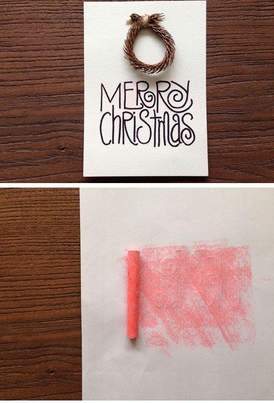 Christmas Card To Make Ideas Part - 32: DIY Mini Wreath Card | Click For 20 DIY Christmas Card Ideas For Families |  DIY