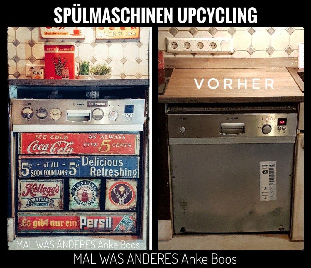 Spülmaschine im Vintage Look vintage Upcycling handmade