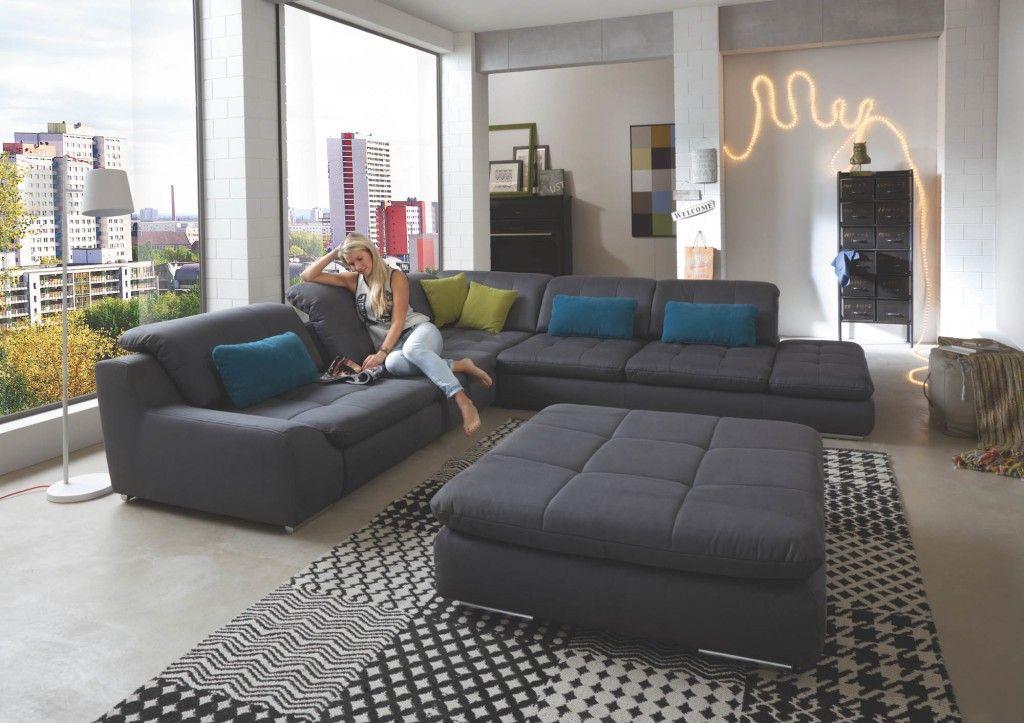 Megapool Sofa dunkelgrau mit microfaser Bezug - Möbel Mit www ...