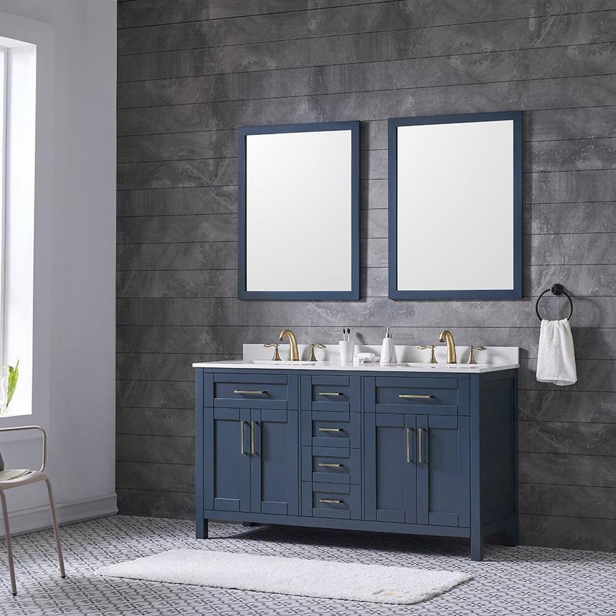 27+ Blue double sink vanity model