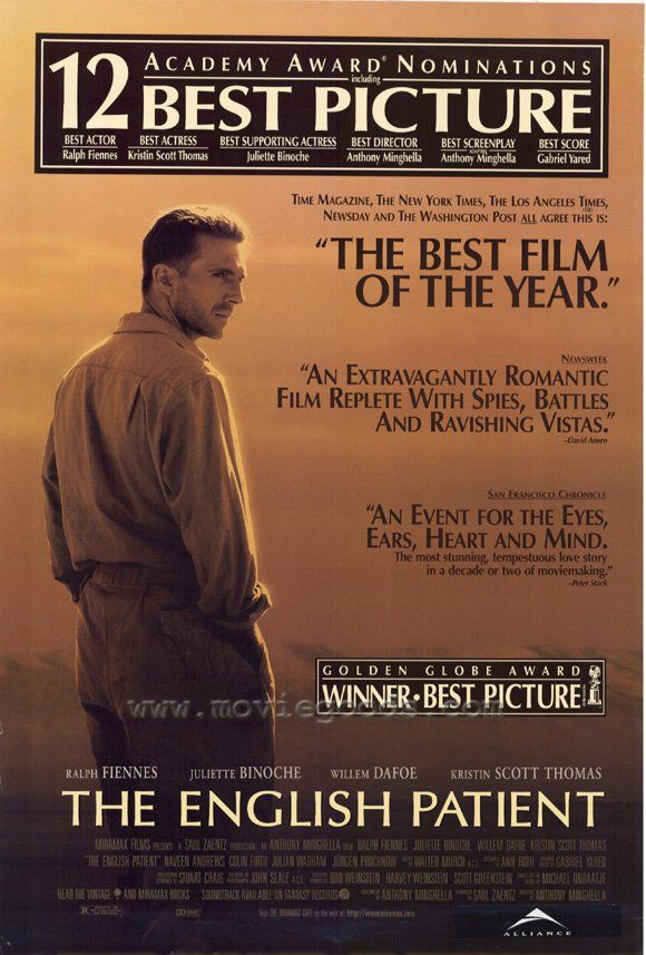 The English Patient, 1996.  Heartbreaking itself, but good for those times when you want to wallow or cry your eyes out some more!