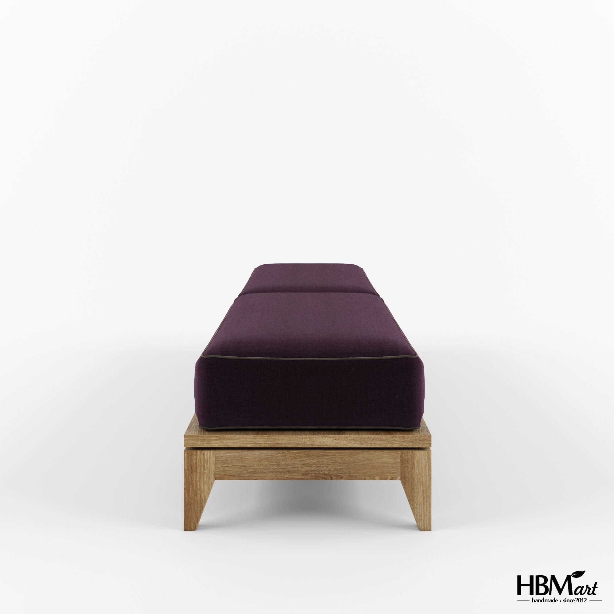 Банкетка из Коллекции OPIUM от HBMart - массив дуба с покрытием из льняного масла и пчелиного воска.