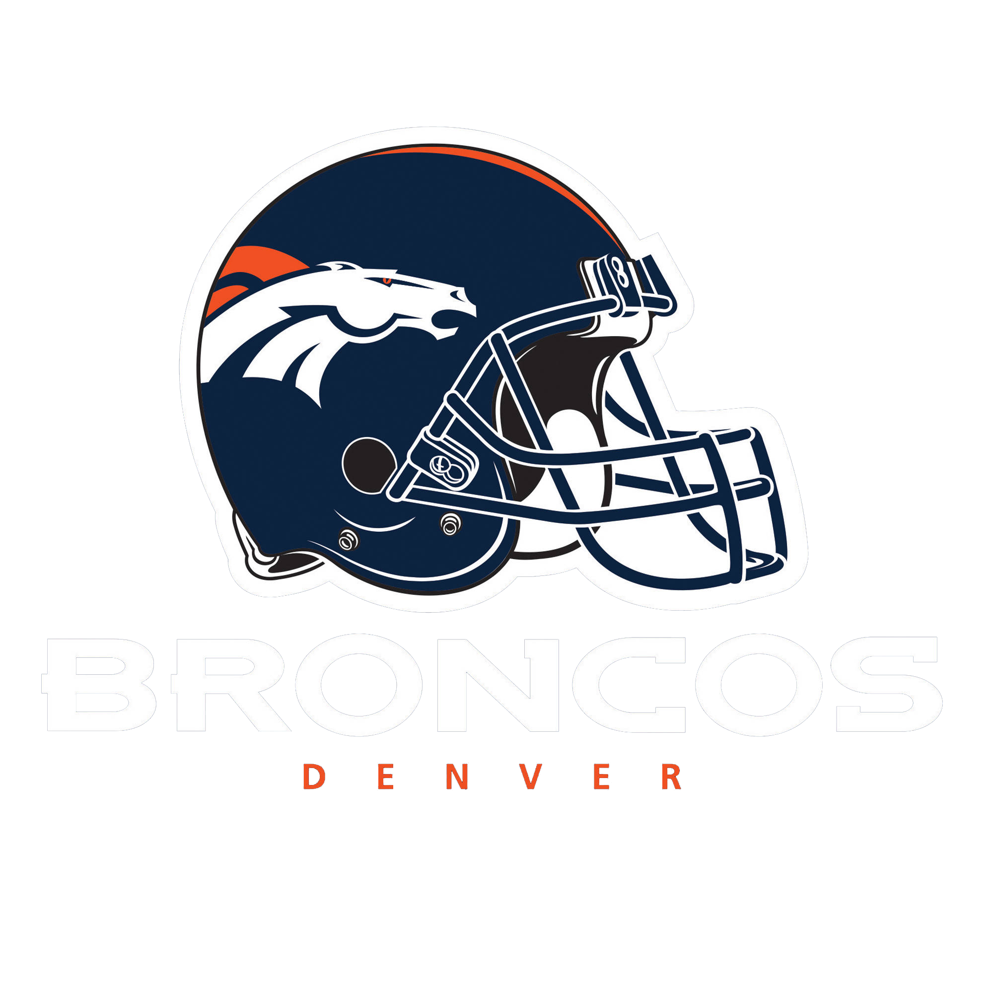 Broncos Logo With Helm PNG Image